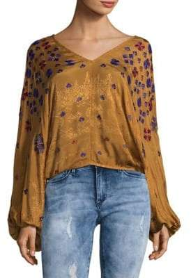 Free People Music In Time Embellished Top