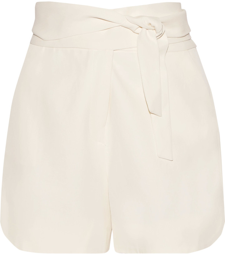 IROIRO Magik tie-waist cady shorts