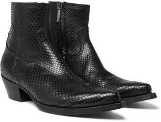 Saint Laurent Lucas Python Boots