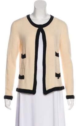 Chanel Colorblock Cashmere Cardigan