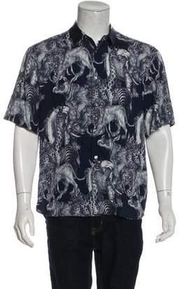 Louis Vuitton X Chapman Brothers 2017 Safari Print Shirt