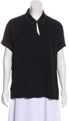 Marc Jacobs Silk Beaded Top