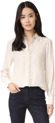 FRAME Victorian Button Up Blouse $265 thestylecure.com