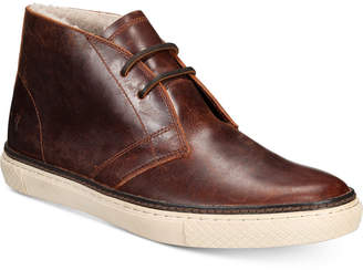 Frye Men's Essex Leather and Sherling Chukka Boots Men's Shoes