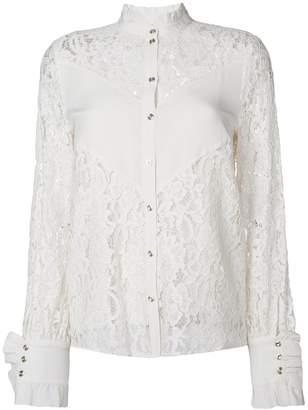 Baum und Pferdgarten sheer lace blouse