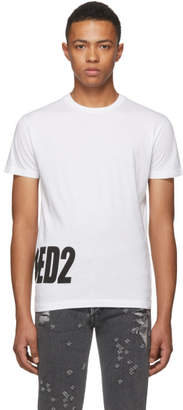DSQUARED2 White Bottom Logo T-Shirt