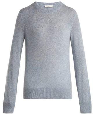 The Row Minco Cashmere And Silk Blend Sweater - Womens - Mid Blue