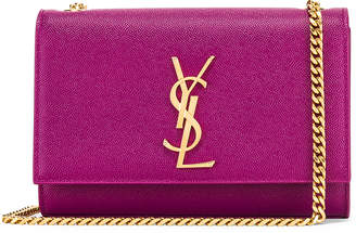Saint Laurent Small Kate Monogramme Chain Bag in Light Grape | FWRD
