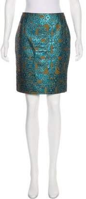 Dries Van Noten Metallic Brocade Skirt