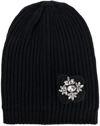 Twin-Set brooch embellished beanie