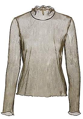 Joie Women's Elmeria Metallic Sheer Turtleneck