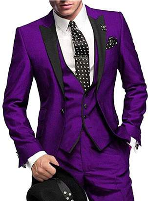 6b89760e6b34 Botong One Button 3 Pieces Wedding Suits Notch Lapel Men Suits Groom Tuxedos