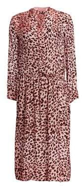 Rag & Bone Leopard-Print Velvet Burnout Midi Dress