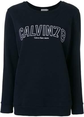 Calvin Klein Jeans logo embroidered sweatshirt