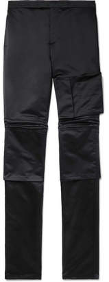 Raf Simons Space Slim-Fit Satin Trousers - Men - Midnight blue