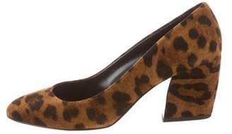 Pierre Hardy Leopard Round-Toe Pumps