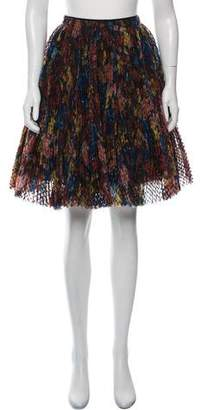 Burberry Silk Printed Knee-Length Skirt