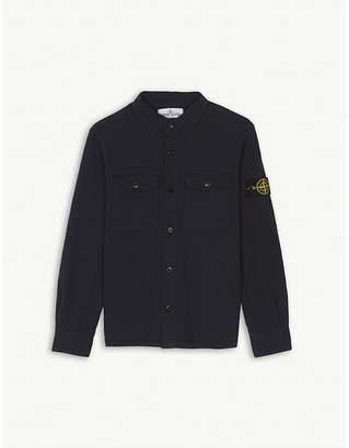 Stone Island Compass patch jersey cotton shirt 4-14 years