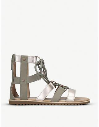 Sorel Ella mixed leather gladiator sandals