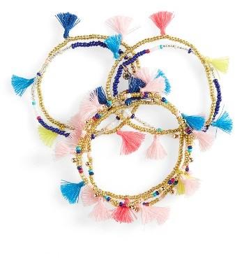 Women's Baublebar Indy Set Of 7 Stretch Bracelets