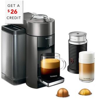 De'Longhi DeLonghi Delonghi Nespresso Vertuo Coffee & Espresso Single-Serve Machine & Aeroccino Milk Frother