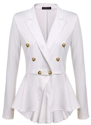 Lettre d'amour Women Double Breasted Suit Collar Blazer Jacket Outerwear Tops M