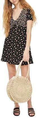 Topshop Mixed Floral Tea Dress