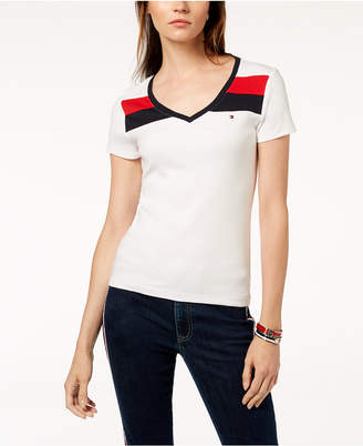 Tommy Hilfiger Cotton V-Neck T-Shirt, Created for Macy's