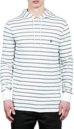 Volcom Men's Breakers Long Sleeve Striped Hooded Shirt