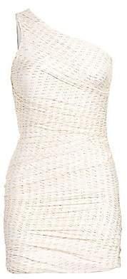 HANEY Women's Tinsley One-Shoulder Drape Sheath Dress