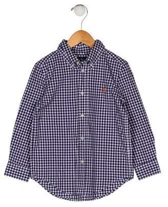 0d830e94 Ralph Lauren Boys' Gingham Collar Shirt