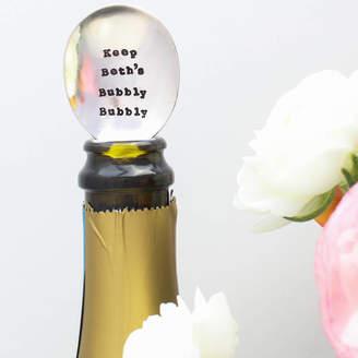 La de da! Living Personalised 'Bubbly Bubbly' Vintage Champagne Spoon