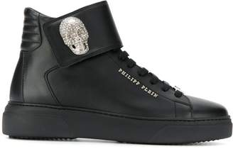 Philipp Plein skull appliqué high-top sneakers