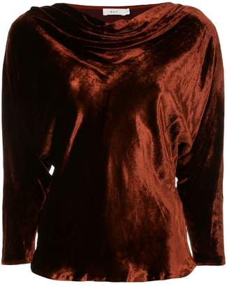A.L.C. draped crushed velvet top