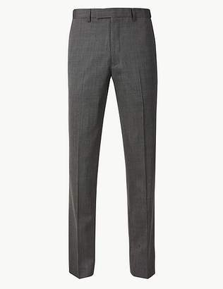 Marks and Spencer Big & Tall Grey Textured Tailored Fit Trousers