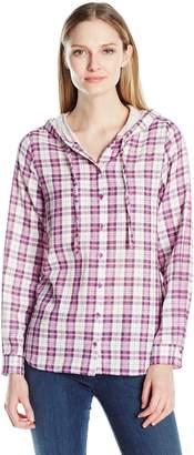 G.H. Bass & Co. Women's Double-Layer Textured Plaid Shirt