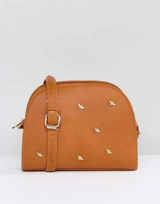 Liquorish Bee Studded Cross Body Bag