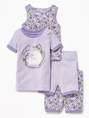 Old Navy Cat-Graphic 4-Piece Sleep Set for Toddler & Baby