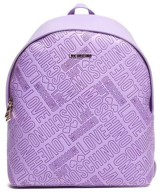 Love Moschino Borsa Embossed Lavanda Backpack