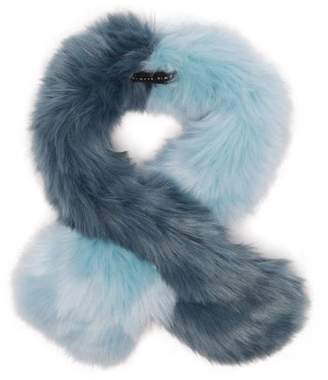 CHARLOTTE SIMONE Polly Pop Faux Fur Scarf - Womens - Blue