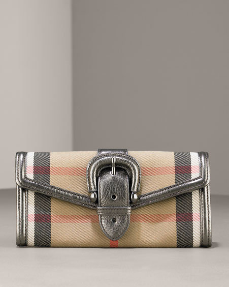 Burberry House Check Wallet, Nickel