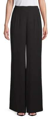 Akris Pleated Silk Wide-Leg Pants