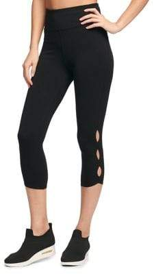 Donna Karan Active High-Waist Cropped Leggings