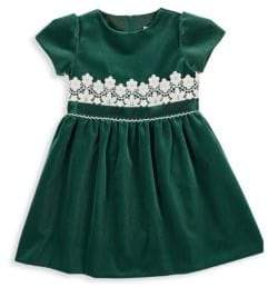 Florence Eiseman Little Girl's Lace Trim Velvet Dress