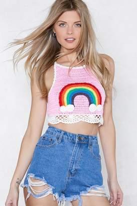 Nasty Gal All Sunshine and Rainbows Crochet Top