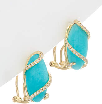 Effy Fine Jewelry 14K 7.65 Ct. Tw. Diamond & Amazonite Earrings