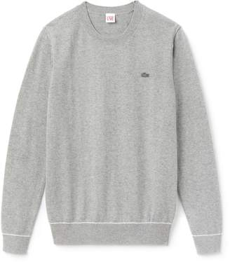 Lacoste Women's LIVE Crew Neck Cotton And Cashmere Jersey Sweater