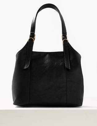 83a779999225 M S CollectionMarks and Spencer Leather 3 Compartment Hobo Bag