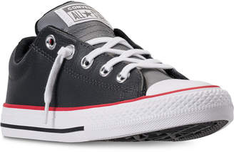 Converse Little Boys' Chuck Taylor Street Ox Leather Casual Sneakers from Finish Line
