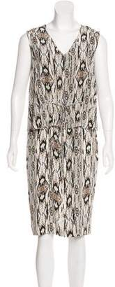 Magaschoni Silk Printed Dress